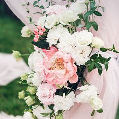 Make a statement in your wedding arch by using big, bold, and beautiful blooms as floral detail. This peony is pretty, pink, and precious! Winter Bridal Bouquets, Cascading Wedding Bouquets, Wedding Reception Flowers, Spring Wedding Flowers, Bridal Flowers, Flower Bouquet Wedding, Floral Wedding, Flower Bouquets, Gold Wedding
