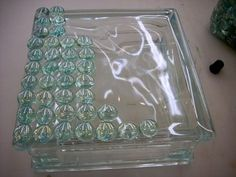 Lighted Glass Block Crafts | Krafty Blok - Glass Block Craft for Home Decor | Vicki O'Dell... The ... Glass Brick, Decorative Glass Blocks, Lighted Glass Blocks, Painted Glass Blocks, Glass Ceramic, Mosaic Glass, Glass Art, Glass Cube, Glass Boxes