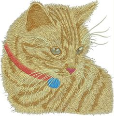 Cute kitty free embroidery design 10 - Animals free machine embroidery design…
