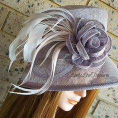 Purple Sinamay Cloche with Pink Detail, Purple Sinamay Hat, Bridal Hat, Spring Carnival Races Derby Hat, Melbourne Cup Sinamay Hats, Millinery Hats, Fascinator Hats, Bridal Hat, Diy Hat, Kentucky Derby Hats, Church Hats, Pink Feathers, Love Hat