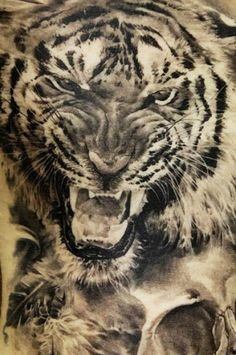 Realism Animal Tattoo by Dmitriy Samohin