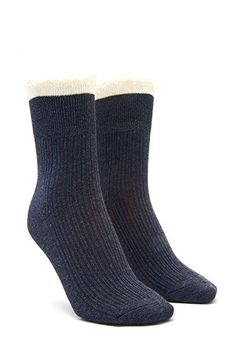 Lace-Trimmed Crew Socks | Forever 21 - 2000180430
