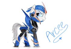 Arcee from Transformers: Prime as a pony by SpeedFeather.deviantart.com on @deviantART