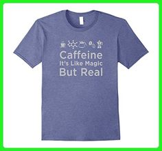 Mens Funny Caffeine Science Shirt: It's Like Magic But Real 2XL Heather Blue - Math science and geek shirts (*Amazon Partner-Link)