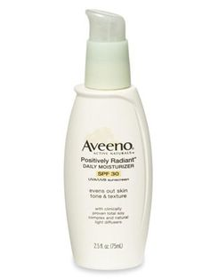 30 Best Drugstore Cosmetics Under $25  Our guide to the best cheap beauty products, from 99 cent lipstick on up.   by Good Housekeeping   #26. Aveeno Positively Radiant Daily Moisturizer with SPF 30 ($14) nails-hair-makeup