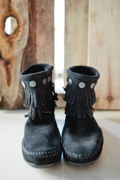 Double Fringe Side Zip Boots