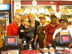 Debbie gets together with the Dunkin Donuts crew for her morning coffee