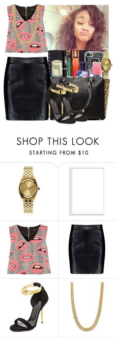 """."" by eirinimaria ❤ liked on Polyvore featuring Nixon, Bomedo, River Island, Boohoo and Versace"