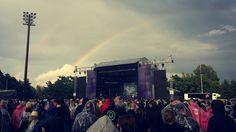 Sonata arctica and rainbow @kuopiorock