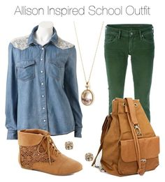 Teen Wolf - Allison Inspired School Outfit by stardustonthepiano on Polyvore featuring Citizens of Humanity, Nikiyo and Forever 21