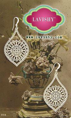 LAVISHY filigree earrings--like lace. #jewelry, #earrings, #wedding, #gift, #lace, #fashion, @Lavishy Boutique