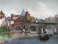Broken Bridge - Ettore Roesler Franz, part of his Roma Sparita series.