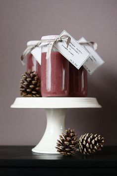 Pear-Rhubarb-Cranberry compote