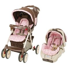 love this stroller set from Target.love the pink and brown mix Best Baby Travel System, Travel Systems For Baby, Reborn Dolls, Reborn Babies, Baby Dolls, Pictures Of Barbie Dolls, Baby Cars, Toddler Furniture, Set Cover