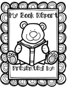 Book Report from ESL Village on TeachersNotebook.com - (4 pages) - Book Report Project! This black & white book will help your students to present reports about any story or book by writing about it and illustrating their own books.
