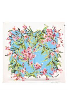 Dolce & gabbana printed silk twill scarf