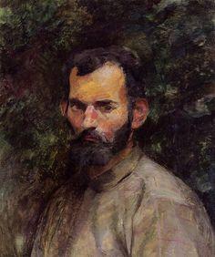 Man's Head - 1883 - PC. Henri de Toulouse-Lautrec.