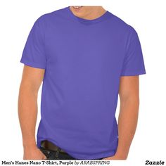 Men's Hanes Nano T-Shirt, Purple T-shirt