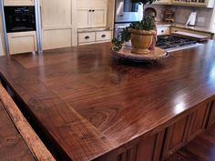 Kitchen Wood Walnut Countertops