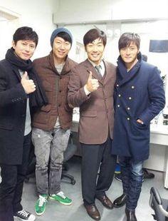 Kim Min Jong, Kim Su Ro, Lee Jong Hyuk, and Jang Dong Gun