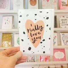 New valentine cards in by @anniedornansmith! #valentines #valentinescard #justacard #ireallyloveyou #handmadenottingham #itsinnottingham #lovenotts #handmade #shoplocal #supportindependent #shopnotts
