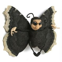 felt fun bugs~black butterfly