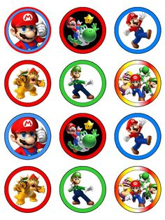 Super Mario Birthday, Mario Birthday Party, Super Mario Party, Birthday Party Themes, Birthday Cupcakes, Bolo Do Mario, Mario Cake, Super Mario Brothers, Super Mario Bros