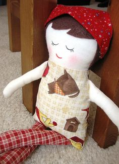 black apple free doll pattern...i made one of these for coral and it was way easy :)