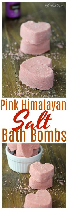 These Pink Himalayan Salt Bath Bombs are super easy to make and great as gifts! Bath Bomb Recipes, No Salt Recipes, Best Bath Salts, Himalayan Salt Bath, Bath Salts Recipe, Bath Boms, Bombe Recipe, Home Made Soap, Bath And Body