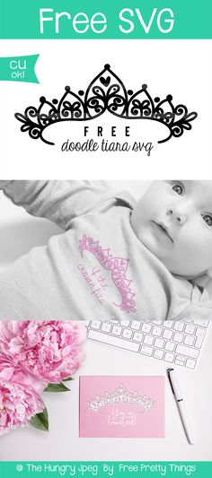 Free Doodle Tiara SVG will bring so much fun and personality to your crafts! Free Svg Cut Files, Svg Files For Cricut, Free Doodles, Diy Cutting Board, Baby Svg, Freebies, Silhouette Cameo Projects, Cricut Creations, Free Baby Stuff