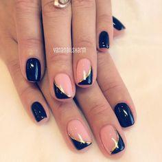 Nail Art Vernis, Shellac Nail Art, Nail Manicure, Acrylic Nails, Fabulous Nails, Gorgeous Nails, Fancy Nails, Trendy Nails, Minimalist Nails