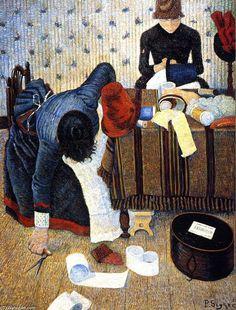 Les modistes, huile sur toile de Paul Signac (1863-1935, France)