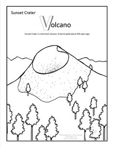 Sunset Crater Coloring Page At GilaBen