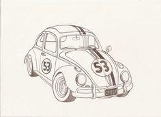 Love Bug Herbie The Movie Coloring Page Coloring Pages | Crafts ...