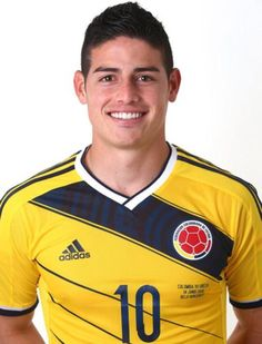James Rodriguez from Colombia... Swoonworthy.