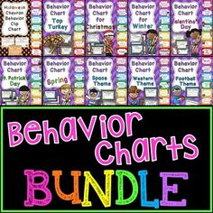 Behavior Charts BUNDLE of all my classroom behavior clip charts to save you a bunch!Grab all these great finds in this massive bundle to save over 40%!!This bundle includes:MONTHLY behavior charts with fun holiday themes:Halloween - OctoberThanksgiving - NovemberChristmas - DecemberWinter - JanuaryValentine's Day - FebruarySt. Classroom Behavior Chart, Behavior Clip Charts, Classroom Management Strategies, Behaviour Chart, Behavior Management, Class Management, Holiday Themes, Holiday Fun, Talkative Students