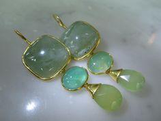 Chandeliers - TOM K Ohrringe Prenith Aqua Gold Chandelier Jade - ein Designerstück von TOMKJustbe bei DaWanda                                                                                                                                                                                 Mehr