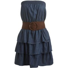 Tube Belted Ruffle Dress | Shop Dresses at Wet Seal ($15) ❤ liked on Polyvore featuring dresses, vestidos, vestiti, short dresses, strapless tube dress, cocktail party dress, mini party dresses, mini tube dress and strapless cocktail dresses