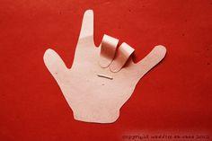 """I Love You"" Sign Language Valentine Cards"