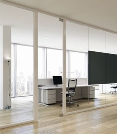 Removable partition / aluminum / glass / for offices - ARIA - BABINI OFFICE
