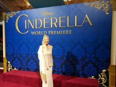 On the red carpet!! Could not be more excited for this special world premiere of #Cinderella tonight! HSN #CinderellaMovie