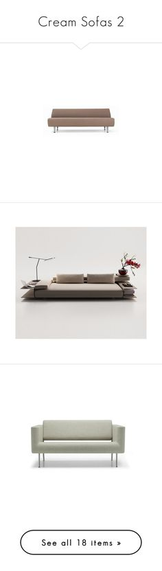 """""""Cream Sofas 2"""" by lailoooo ❤ liked on Polyvore featuring home, furniture, sofas, chairs, accent chairs, chaise, antique white furniture, egg shell chair, cream chair and beige chair"""
