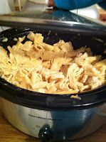 : Crock-pot Chicken Alfredo with Pasta.....made this! I used Classico Light Alfredo sauce. I cut the recipe in half for just the two of us, but it could have used about another half jar of sauce toward the end of cooking - LD