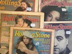 Rolling Stone covers by art director Mary Shanahan.