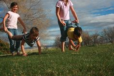 Classic Outdoor Childhood Games to Play WITH Your Children