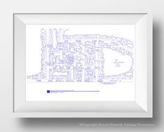 Stars Hollow Map Poster - Fictional Blueprint Map for Stars Hollow Connecticut - Gilmore Girls Fictional Town - Gift for her
