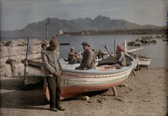 Boats on the shore of Palermo, Sicily, 1932. Photograph by Wilhelm Tobien
