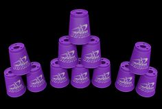JAKE Speed Stacks Sets - Royal Purple w/ Blazing Fast snap rings, cup keeper and Stacker, The Movie