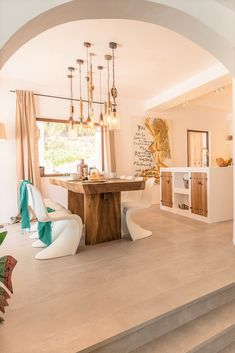 Gorgeous dining room with open kitchen Ibiza Style