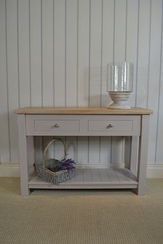 Our Samuel console table is the perfect piece for kitchens, dining rooms and hallways. Available in 6 standard colours - www.jamesbrindley.com for more details.